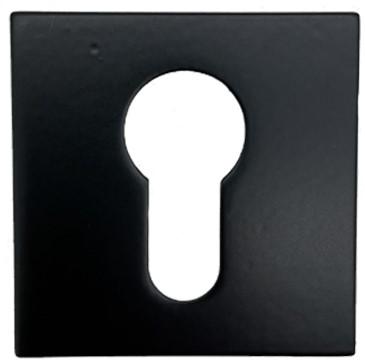 Colombo Design Cilinderrozet vierkant - Zwart mat