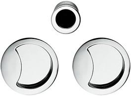 Colombo Design Open Flush schuifdeurgreep - Chroom glanzend