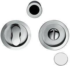Toiletgarnituur Open Flush - mat wit / rond