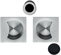 Schuifdeurgreep OpenSQ Flush - mat zwart / vierkant