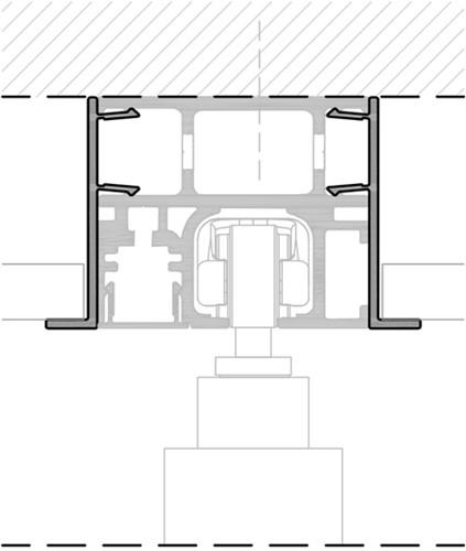 K Art profiel verlaagd plafond - 3 meter