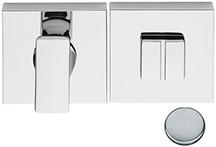 Toilet vrij/bezet rozet 6.5mm - vierkant - Chroom mat - FF29BZG-CM