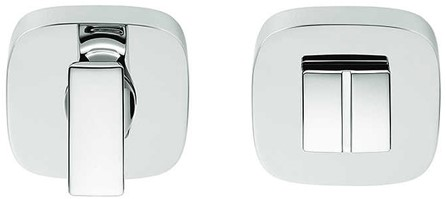 Colombo Design MR29BZGG - toiletrozet 10 mm - vierkant afgerond - Chroom glanzend