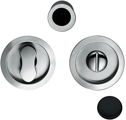 Toiletgarnituur Open Flush - mat zwart / rond