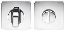Colombo Design PT19BZG6 - Toiletgarnituur vierkant afgerond - Chroom glanzend