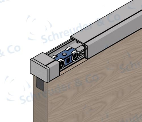 ROB Totaalset Cube 80 kg met softclose en rail 1.86 m