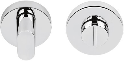 Toilet vrij/bezet rozet 6.5mm - rond - Chroom mat