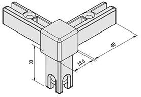 Smartcube 3-punts hoekpunt