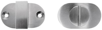 PBA vrij/bezet garnituur ovaal - RVS glanzend